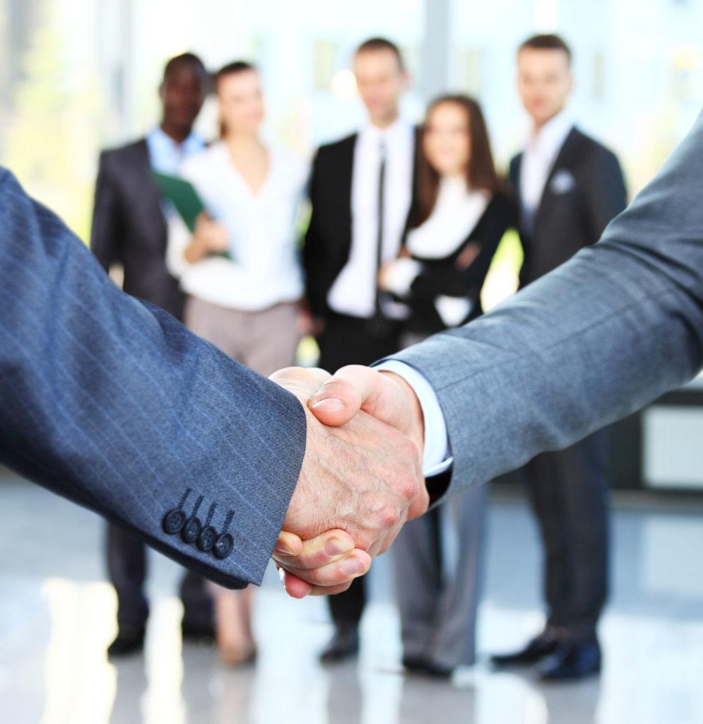 Geo-Med Partnership Vendor Handshake